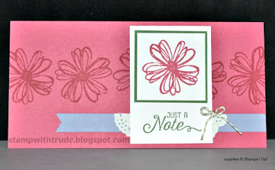 Flower Shop, Stampin' Up!, Stamp with Trude, greeting card