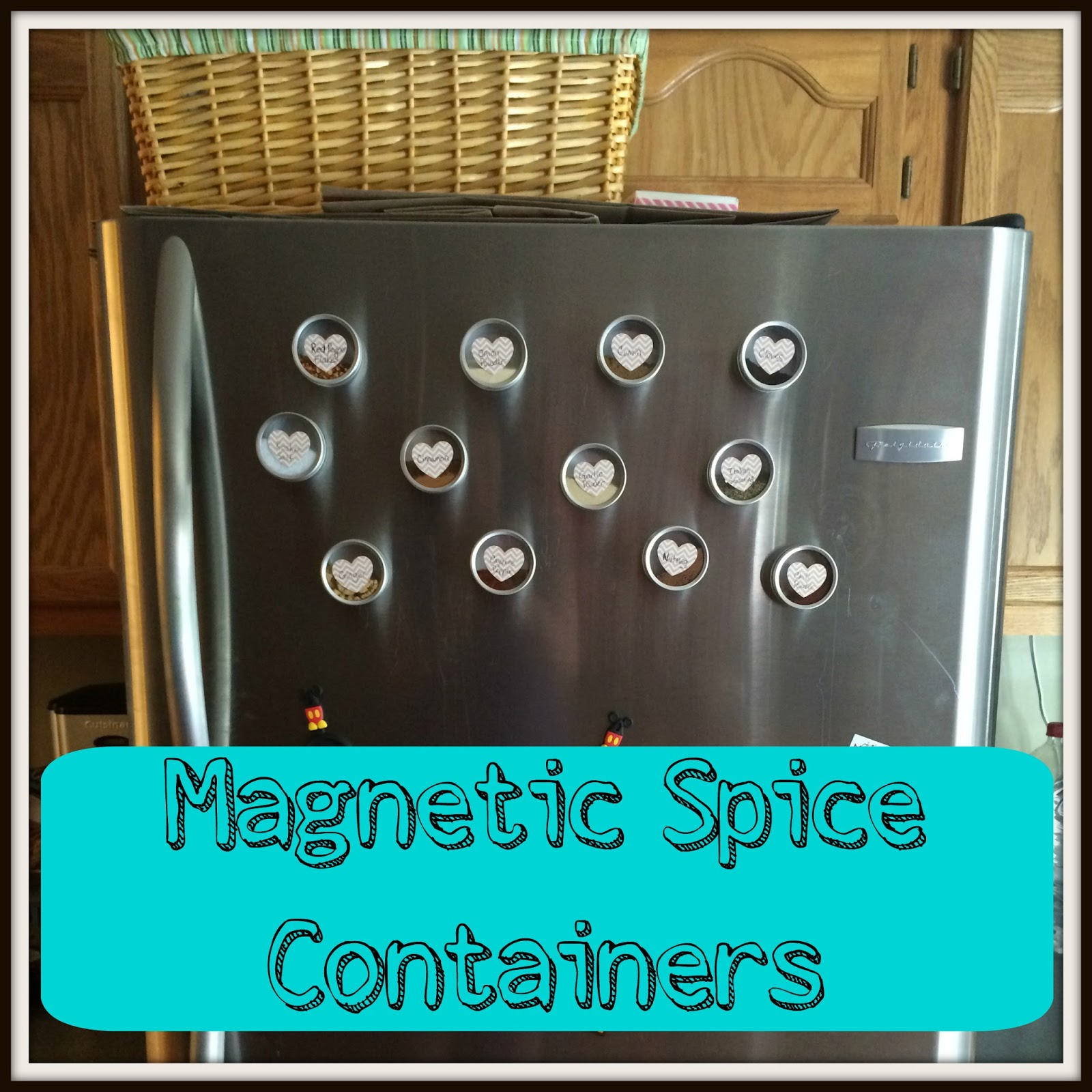 DIY Magnetic Spice Containers