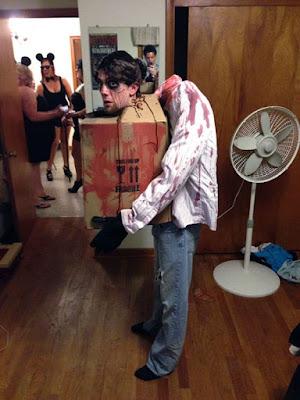 Zombie sin cabeza disfraz para halloween