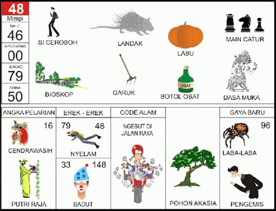 Buku Mimpi 2D Bergambar Angka Main 48 Plus Erek Erek dan Kode Alam - BUKU  MIMPI 2D BERGAMBAR