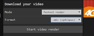Hasil rendering opening video
