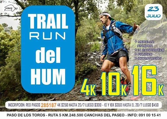 16k 10k 4k Trail run del Hum (Paso de los toros, Tacuarembó, 23/jul/2017)