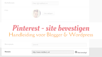 Pinterest site bevestigen - Handleiding voor Blogger en Wordpress