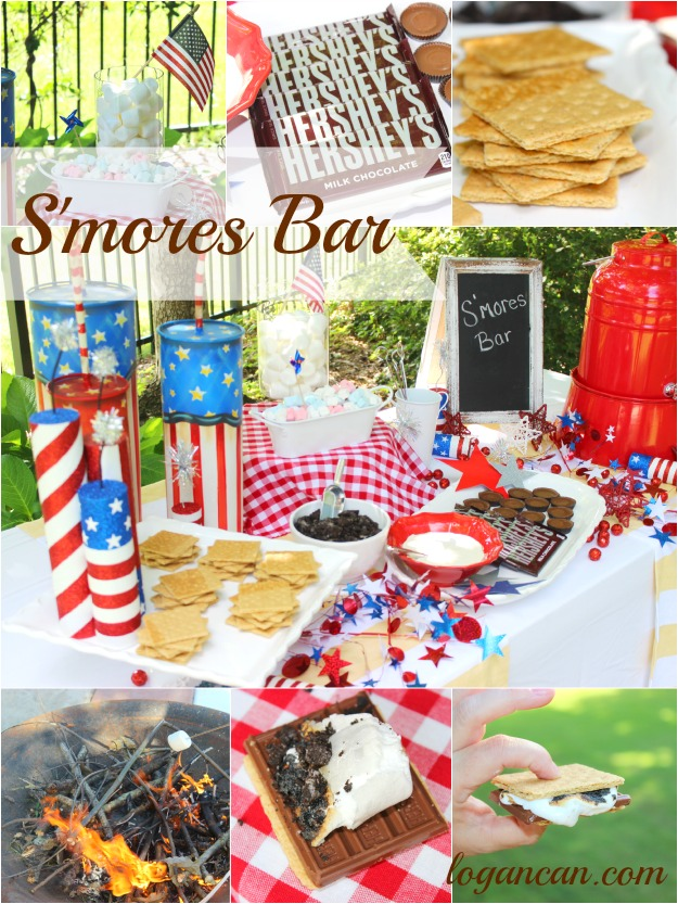 Patriotic S'mores Bar by Logan Can
