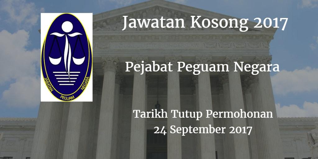 Jawatan Kosong Pejabat Peguam Negara 24 September 2017