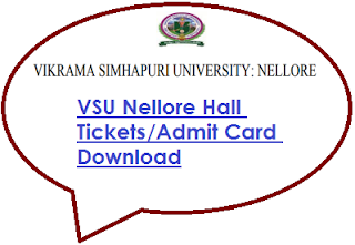 VSU Nellore Degree Hall Tickets 2020