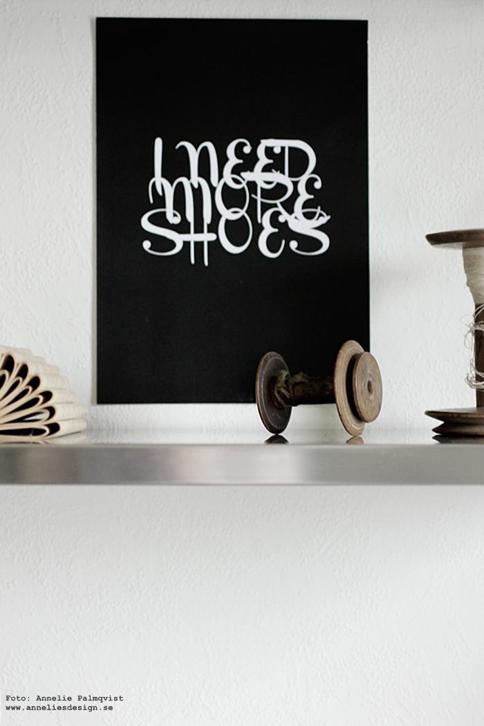 annelies design, webbutik, webshop, nätbutik, tavla, tavlor, poster, posters, print, prints, konsttryck, inredning,med text, svartvit inredning, blogg, bloggar, svart och vitt,