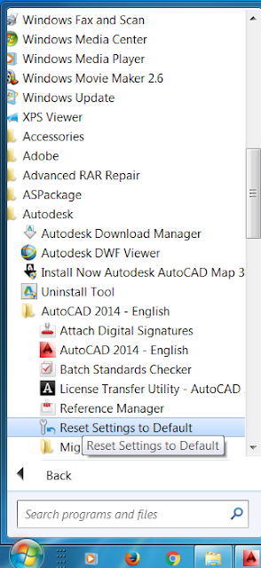 How to reset AutoCAD to default