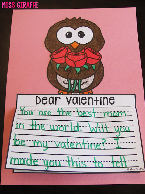 FREE Valentine's Day writing craft activities