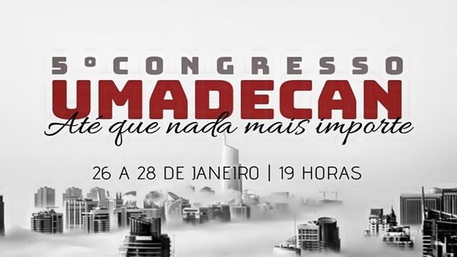 Congresso de Jovens da UMADECAN acontece no final de janeiro, em Cantagalo