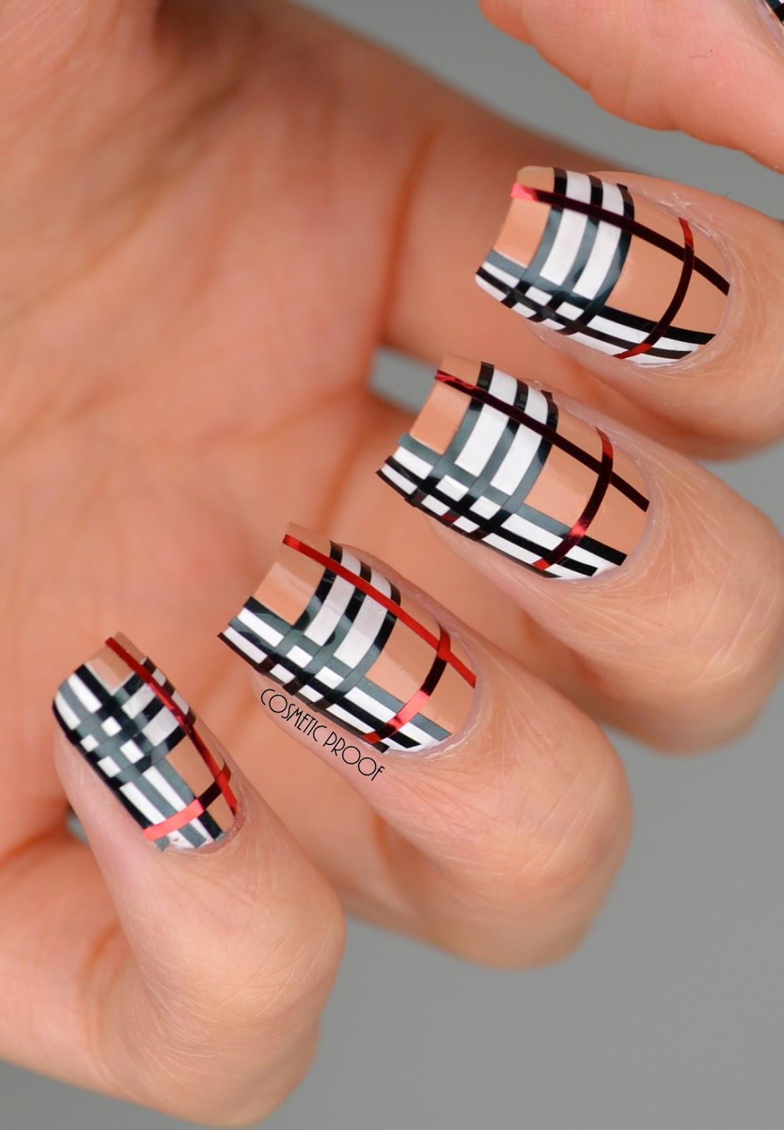 NAILS | Striping Tape Burberry Nail Art #CBBNov | Cosmetic ...