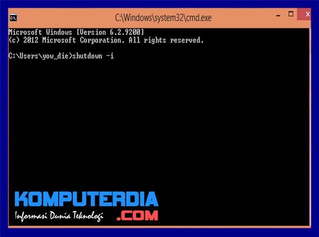Cara mematikan dan merestart komputer orang lain dalam satu jaringan dengan CMD