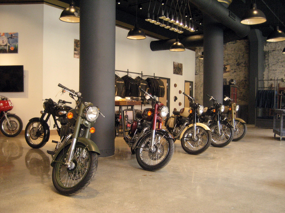 Royal Enfield showroom.