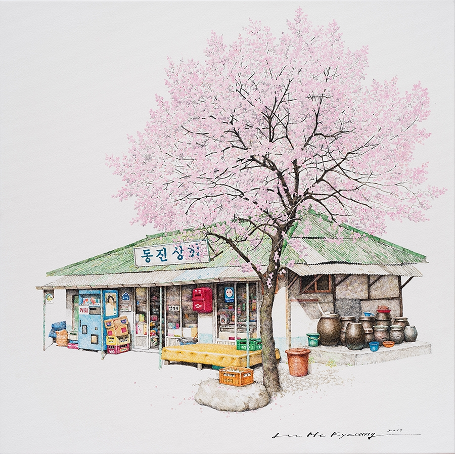 04-Dongjin-Me-Kyeoung-Leehas-Pencil-Drawings-of-Convenience-Stores-in-South-Korea-www-designstack-co