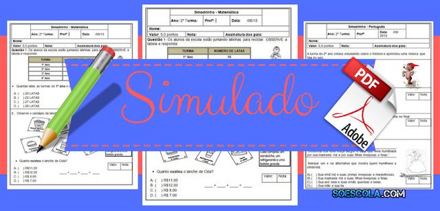 Simulado de Português e Matemática com gabarito – 2º ano