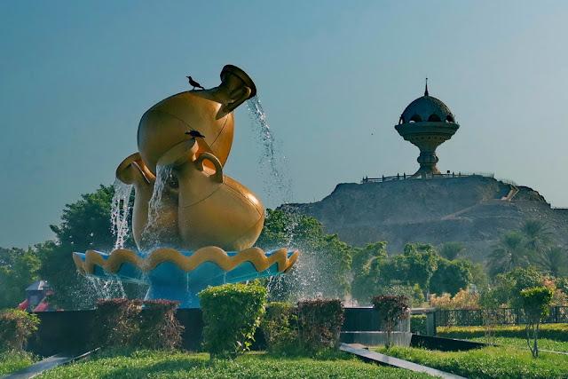 Dekoration, Kreisel, Weihrauchbrenner, Mutrah, Muscat, Oman, Riyam, Wasserspiel, gold