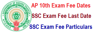 AP SSC/ 10th Exam Fee Due Dates 2019 SSC Exam Timetable March 2018-19