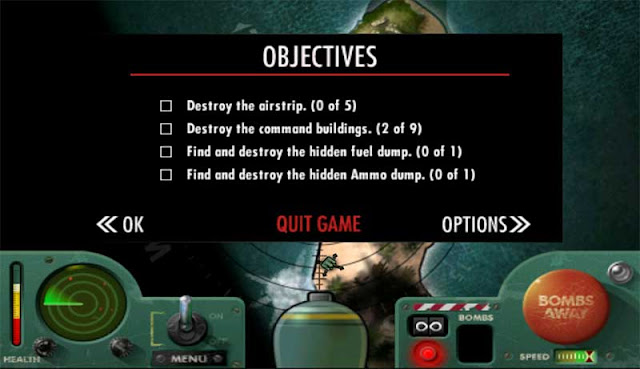 Game Objectives Screen