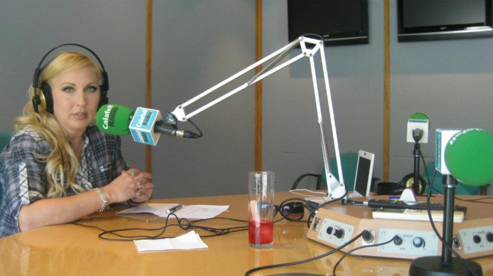 Claudia Bürk en Radio Calafell