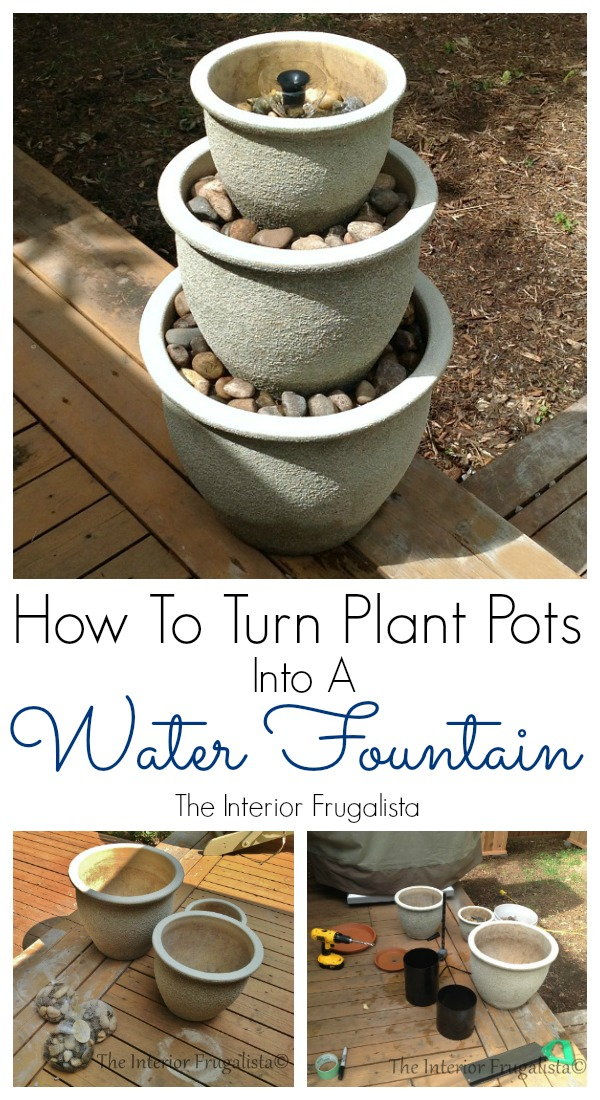 How to build a water fountain from plant pots