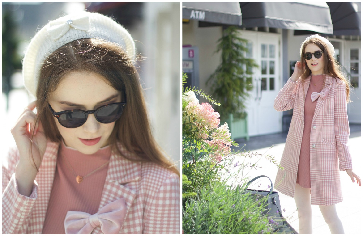 Pink Parisian inspired outfit