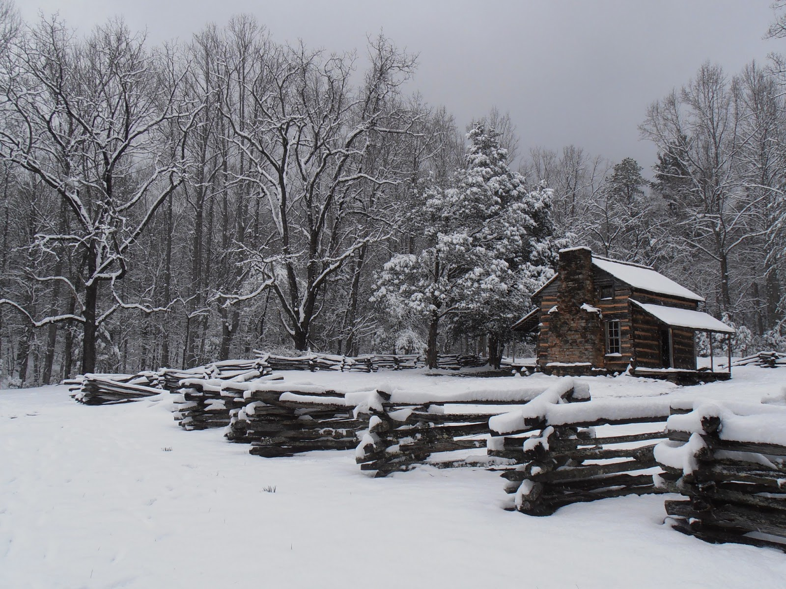 American travel journal snow in cades cove great smoky for Vacation in the snow