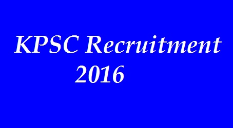 KPSC Group C Non Technical Recruitment 2016