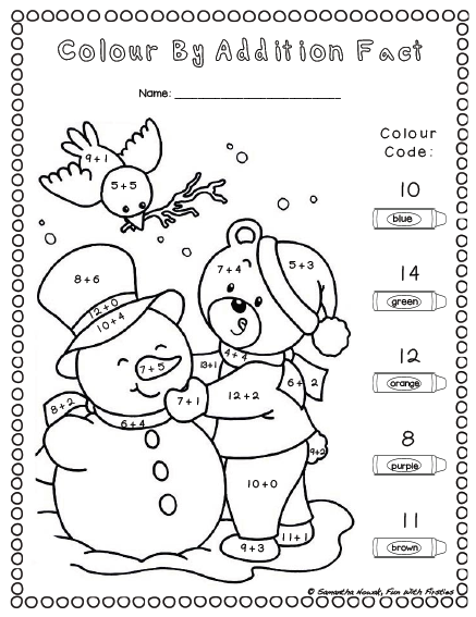 Addition Worksheets addition worksheets winter : Fun With Firsties: FREE Addition Math Station Worksheet & Noise ...