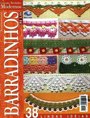 Bicos de Crochê Com Gráfico - Barradinhos - Coleção Bordados Modernos