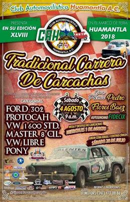 carrera de carcachas feria huamantla 2018