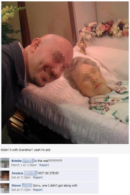 lustige Bilder böse fiese Menschen tote Oma