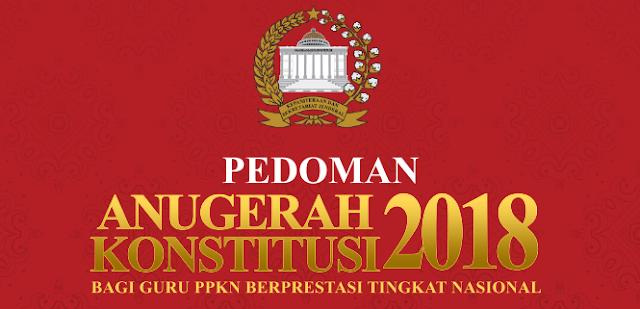 Lomba Anugerah Konstitusi Bagi Guru Tahun 2018