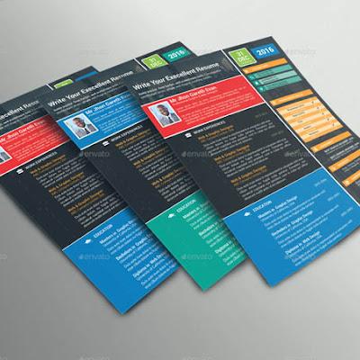 colorful cv templates