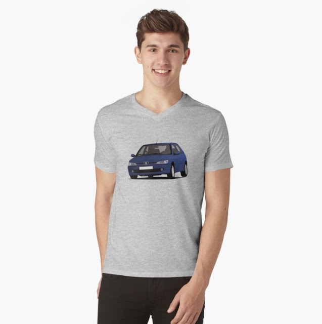 Blue Peugeot 306 GTi-6 T-shirt