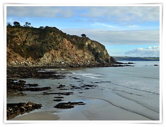 The cliffs at Charlestown, Cornwall