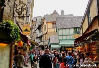 Mont Saint Michel town