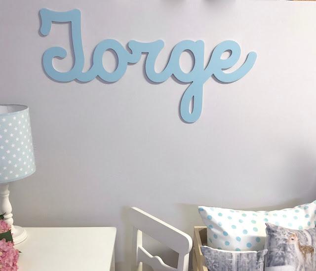 letras y nombres de   bebé para decorar habitación infantil