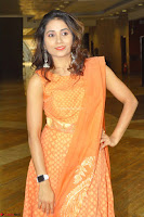 Bhanu Priya in Oreange Ethnic Anarkali Dress 11.JPG