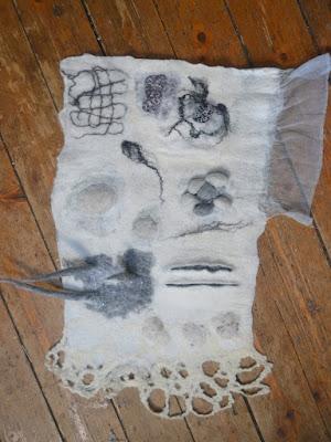 stage découverte effets de matières laine feutrée -Factory Cathy