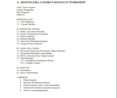 Download Format Sistematika Laporan Kegiatan Workshop