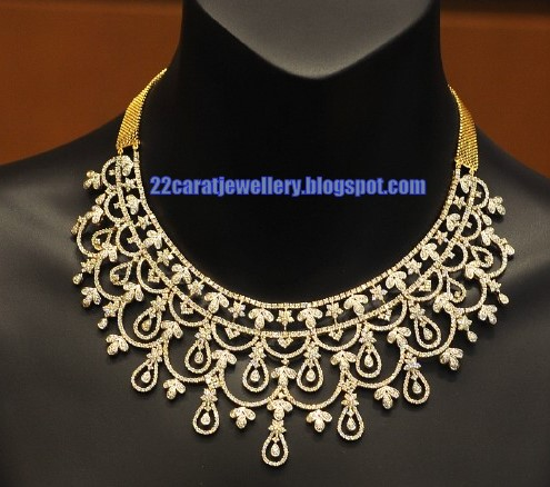 Tanishq Diamond Necklace Set Designs 2 Jewellery Designs