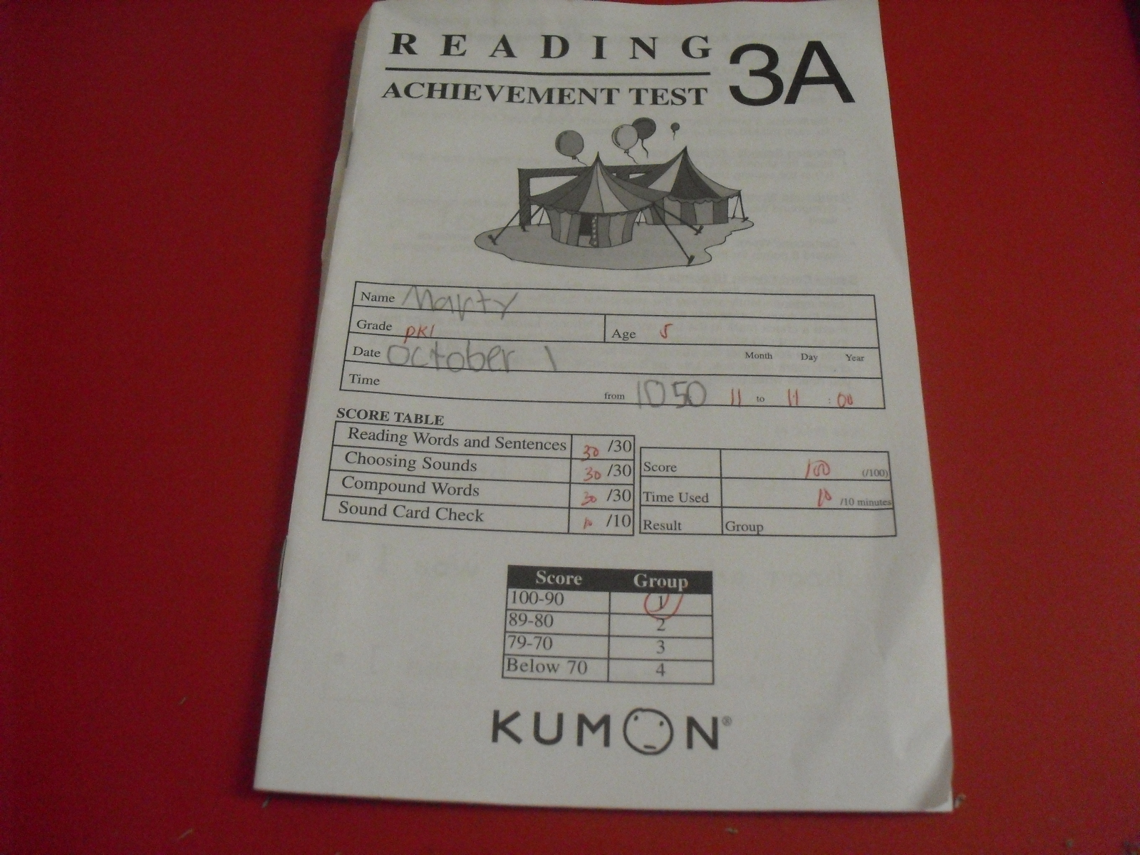 Kumon Worksheet Level 3a