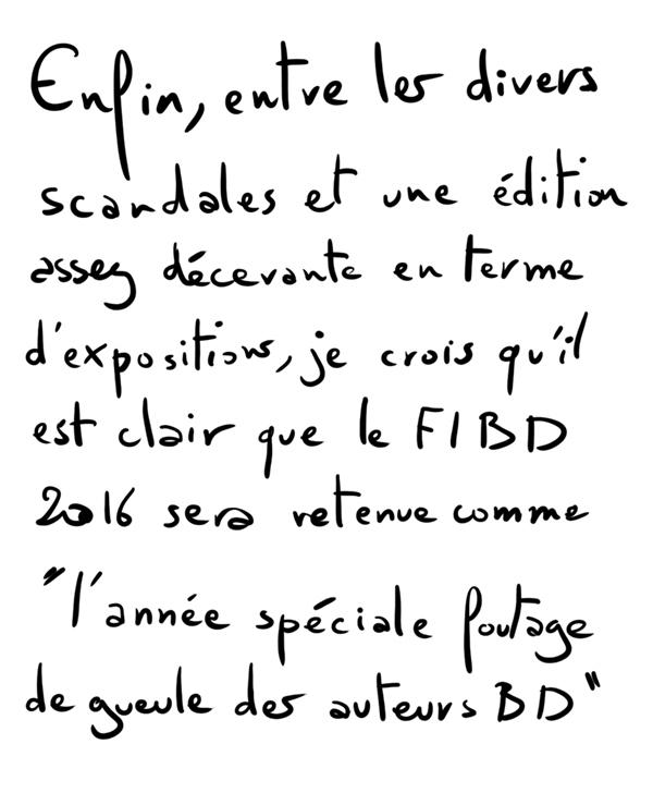 FIBD 2016, l'édition de la honte ? - yep !