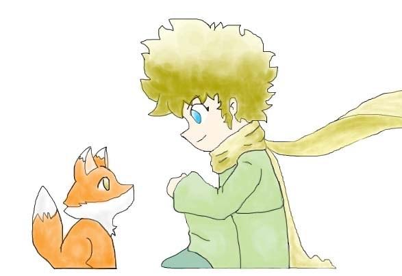 Image result for o pequeno príncipe e a raposa desenho