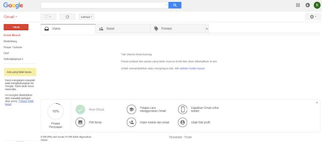 Tampilan Mailbox Gmail