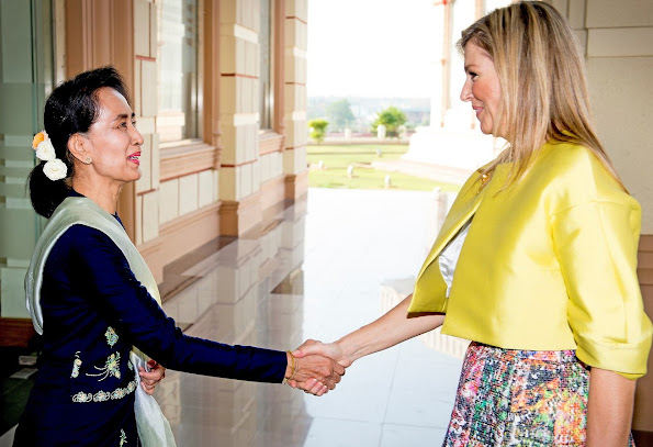 Queen Máxima of The Netherlands attended the meeting of the Financial Inclusion Roadmap in the Nay Pyi Taw.