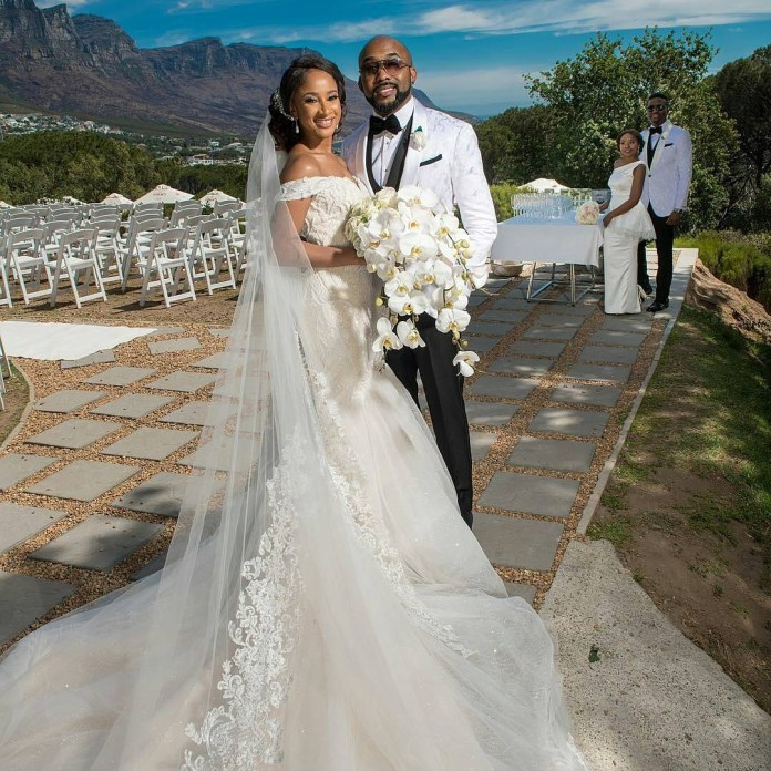 First Photos From Banky W Adesua Etomi White Wedding In South Africa