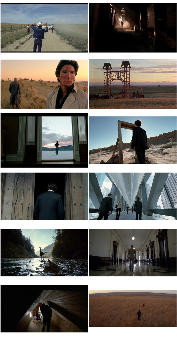 Terrence Malick Knight of Cups Back to the camera gateways, doorways & paths