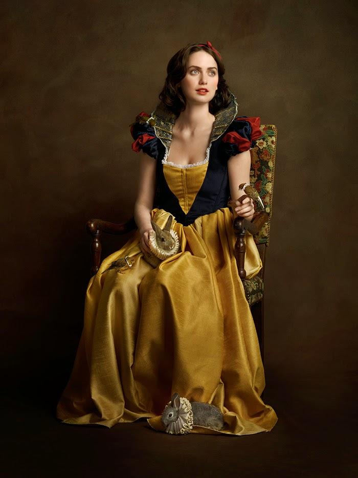 branca de neve com vestido do século 16