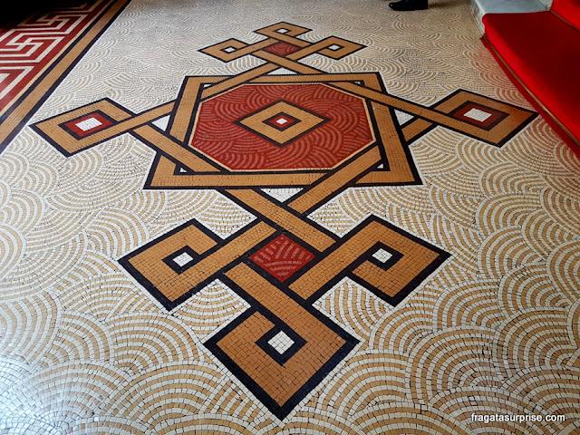 Piso em mosaico do MNBA